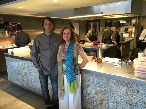 Pilar Latorre con Albert Sastregener Chef y propietario de Bo.Tic