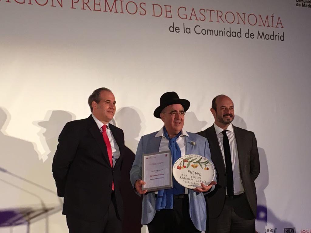Pilar Latorre de WorldCuisine en los Premios de Gastronomía de La Comunidad de Madrid.