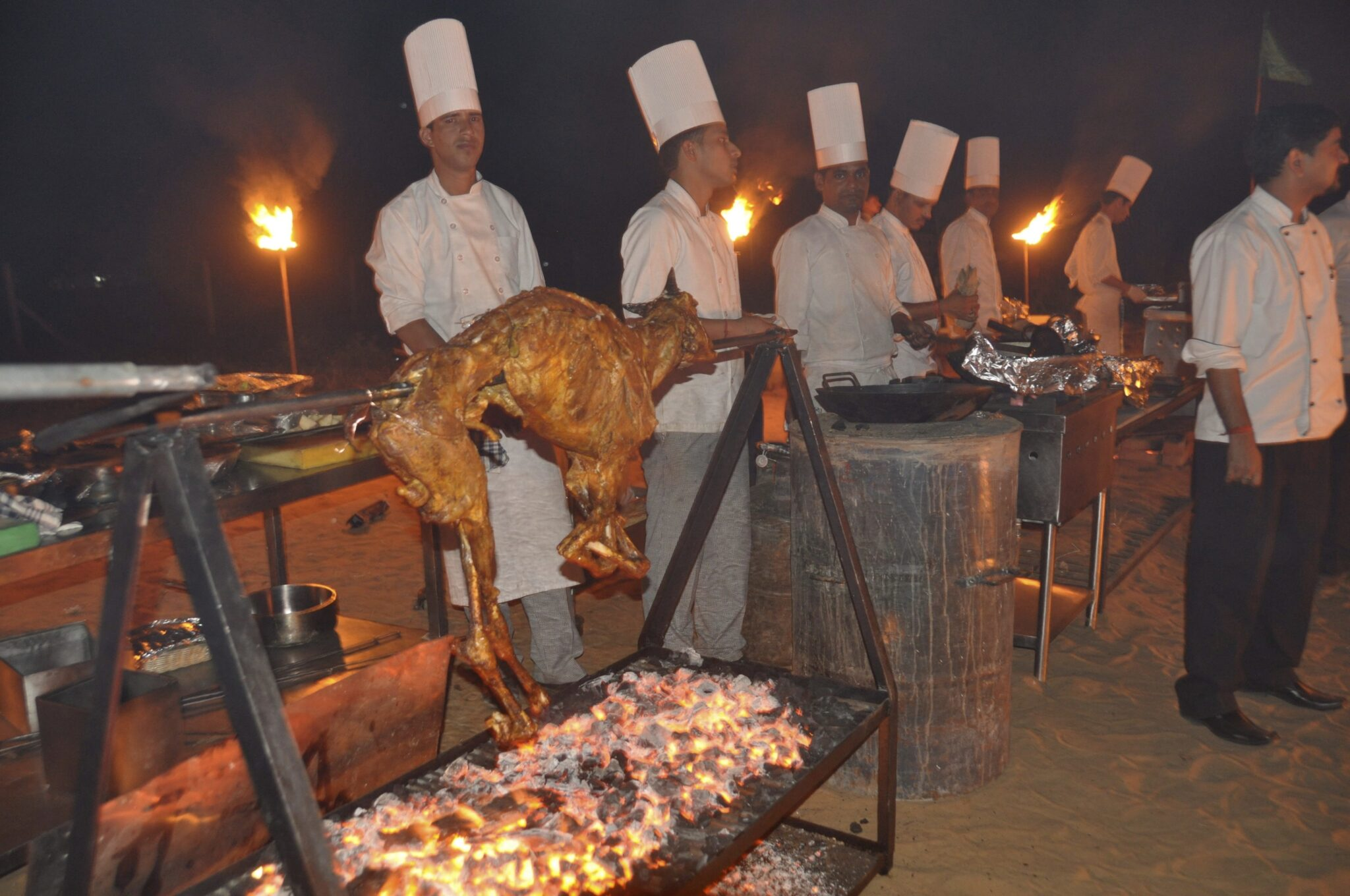 Pilar Latorre World Cuisine Viaje a la India 2017. Cena bajo las estrellas en el desierto